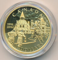CANADA 14K GOLD 100 DOLLARS 2016 100TH PARLIAMENT BUILDINGS