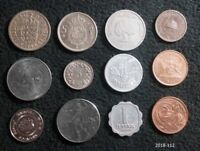 LOT 12 WORLD COINS 12 COUNTRIES SWITZERLAND HUNGARY  1895  SINGAPORE MORE
