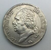 1817 A  FRANCE 5 FRANCS LOUIS XVIII SILVER COIN EXCELLENT  LOVELY  TONE LUSTRE