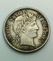 1893 S BARBER DIME SEMI KEY DATE COLLECTORS COIN PLEASING WITH LUSTRE