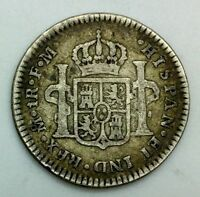 MEXICO 1776 MO FM CHARLES IIII ONE REAL SILVER COLONIAL   NICE COIN