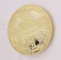 1BITCOIN GOLD PLATED IRON. BITCOIN DESIGN TWO SIDE PHYSICAL COLLECTIBLEHOT2018