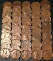 1916-P ROLL 50 LINCOLN CENTS// GOOD-FINE// FAST SHIPPING WITH USPS TRACKING