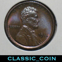 X- 1914 LINCOLN WHEAT CENT 1C BU/MS BROWN TOUGH COIN IN BU FREE S/H