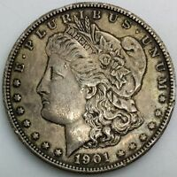 1901 S  SAN FRANCISCO   MORGAN SILVER DOLLAR  COIN NEVER CLEANED SEMIKEY LUSTRE
