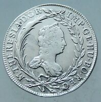 L6 MARIA THERESA SILVER 1765  29MM 6 35G VERY FINE