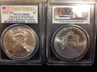 2013-WEST POINT SILVER EAGLE-PCGS MINT STATE 69 FIRST STRIKE