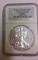 2012 W AMERICAN SILVER EAGLE DOLLAR STRUCK AT WEST POINT EARLY RELEASE NGC MS 70