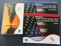 2016 P/D/S US MINT PROOF & UNCIRCULATED SET IN ORIGINAL MINT PACKAGE & COA