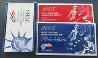 2005 P/D/S US MINT PROOF & UNCIRCULATED SET IN ORIGINAL MINT PACKAGE & COA