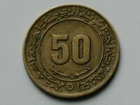 ALGERIA  AFRICA  1975 50 CENTIMES COIN WITH 30 YEAR COMMEMORATIVE SETIF MASSACRE