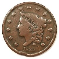 1835 P U.S. CORONET LIBERTY HEAD LARGE CENT. SMALL DATE AND STARS. HARD TO FIND.