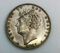 GREAT BRITAIN 1829 GEORGE IV  6 PENCE SILVER KM698  CHOICE EF COIN LUSTROUS