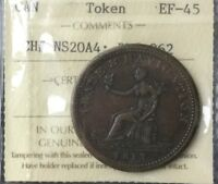 CANADA BRETON TOKEN BR962 CHNS20A4 ICCS EXF 45 GLOSSY BROWN NICE TOKEN