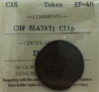 Click now to see the BUY IT NOW Price! CANADA  BLACKSMITH TOKEN CHBL47A2 ICCS EF40 CLIPPED PLANCHET INCREDIBLE