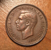 1946 GREAT BRITAIN FARTHING. KING GEORGE VI. BRITISH BRONZE. BETTER DATE.
