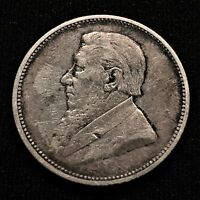 1892 SOUTH AFRICA 2 SHILLINGS SILVER KM 6 ONLY 55 000 MINTED XF