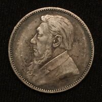 1892 SOUTH AFRICA 1 SHILLING SILVER KM 5 130 000 MINTAGE VF