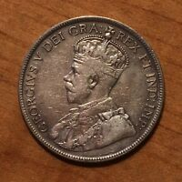 1916 CANADA 50 CENTS SILVER VF