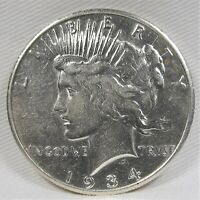 1934-S TOP 50 PEACE DOLLAR VAM 3 DOUBLE TIARA CH EXTRA FINE  DETAILS COIN AF461