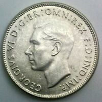 AUSTRALIA FLORIN GEORGE VI 1947  M   FULLY LUSTROUS  COLLECTORS COIN NICE