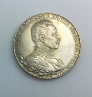 GERMANY PRUSSIA 1913 2 MARK 25TH ANNIVERSARY NICE  COIN WILHELM II KM533