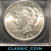 1926 SILVER PEACE DOLLAR $1 ICG MINT STATE 64 92 YEARS OLD FREE S/H