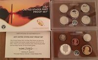2017 US MINT PROOF SET - WITH BOX & COA - ALL 10 COINS FOR 2017