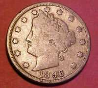 1896 LIBERTY NICKEL  DATE HARD TO FIND GEM CIRCULATED MAKE AN OFFER