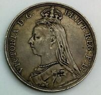 GREAT BRITAIN 1891 JUBILEE HEAD  CROWN NICE GREY COLOUR MID GRADE  6