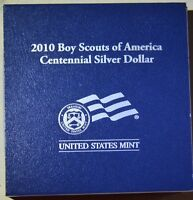 2010 PROOF BOY SCOUTS OF AMERICA CENTENNIAL SILVER DOLLAR WITH COA