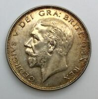 GREAT BRITAIN 1936 HALF CROWN GEORGE V SILVER NICE ORIGINAL COIN AU TONED