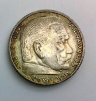 GERMANY 1936A 5 MARK  NICE  COIN TONED KM86