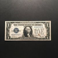 1928B $1 FUNNY BACK SILVER CERTIFICATE ONE DOLLAR BLUE SEAL NOTE BLOCK H/B