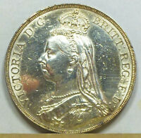GREAT BRITAIN CROWN 1887 AU/UNCIRCULATED POLISHED