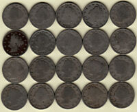 1883 W/CENTS 1891 1896 1901 1903-1912 1912-D  21 LIBERTY NICKELS 15 DIFF