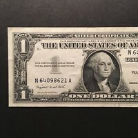 1957A $1 SILVER CERTIFICATE US CURRENCY BLUE SEAL NOTE BLOCK N/A UNC
