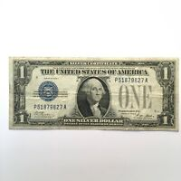 1928A $1 FUNNY BACK SILVER CERTIFICATE ONE DOLLAR BLUE SEAL NOTE BLOCK P/A