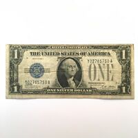 1928A $1 FUNNY BACK SILVER CERTIFICATE ONE DOLLAR BLUE SEAL NOTE BLOCK Y/A