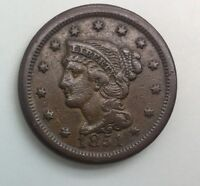 1851  LARGE CENT   MID GRADE TYPE COIN 2