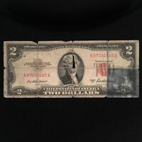 1953 A SERIES $2 TWO DOLLAR RED SEAL NOTE SMALL SIZE US CURRENCY  BLOCK A/A