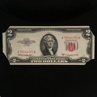 1953 C SERIES $2 TWO DOLLAR RED SEAL NOTE SMALL SIZE US CURRENCY  BLOCK A/A