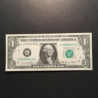 1969D $1 FEDERAL RESERVE NOTE  FRB  CHICAGO ILLINOIS GREEN SEAL BLOCK G/B UNC