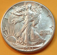1943-D WALKING LIBERTY SILVER HALF DOLLAR / HIGH GRADE / SHIPS FREE W42