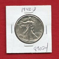 1943 D WALKING LIBERTY SILVER HALF DOLLAR 89024 HIGH GRADE US MINT  ESTATE