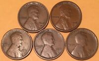 1913-D 1915-P 1915-D 1916-D 1916-S/LINCOLN CENTS/GOOD-FINE/FAST SHIPPING