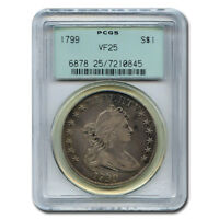 CERTIFIED DRAPED BUST DOLLAR 1799 VF25 PCGS