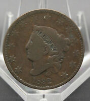1832 CORONET HEAD TYPE LARGE CENT VG CONDITION