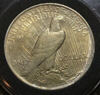 KEY DATE 1922-P PEACE DOLLAR US SILVER COIN GOLD TONING BOTH OBVERSE AND REVERSE