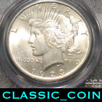 1923 SILVER PEACE DOLLAR $1  PCGS MINT STATE 64 SHIPS FREE